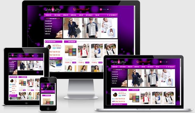 Templates blogspot chuẩn seo bán hàng quần áo