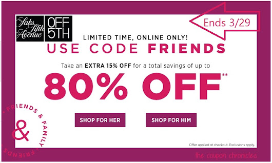 Saks Fifth Avenue Off 5th Friends and Family Sale