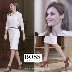 Queen Letizia wore Hugo Boss Sandals