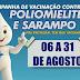 VIRMOND - CAMPANHA NACIONAL DE VACINAÇÃO CONTRA A POLIOMIELITE E SARAMPO