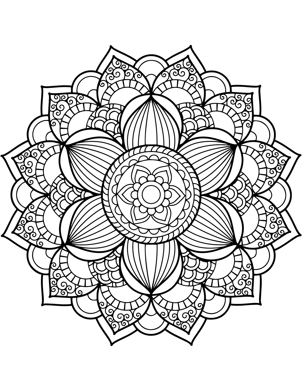 Desenhos De Flor Mandala Para Colorir E Imprimir Colorironline Com