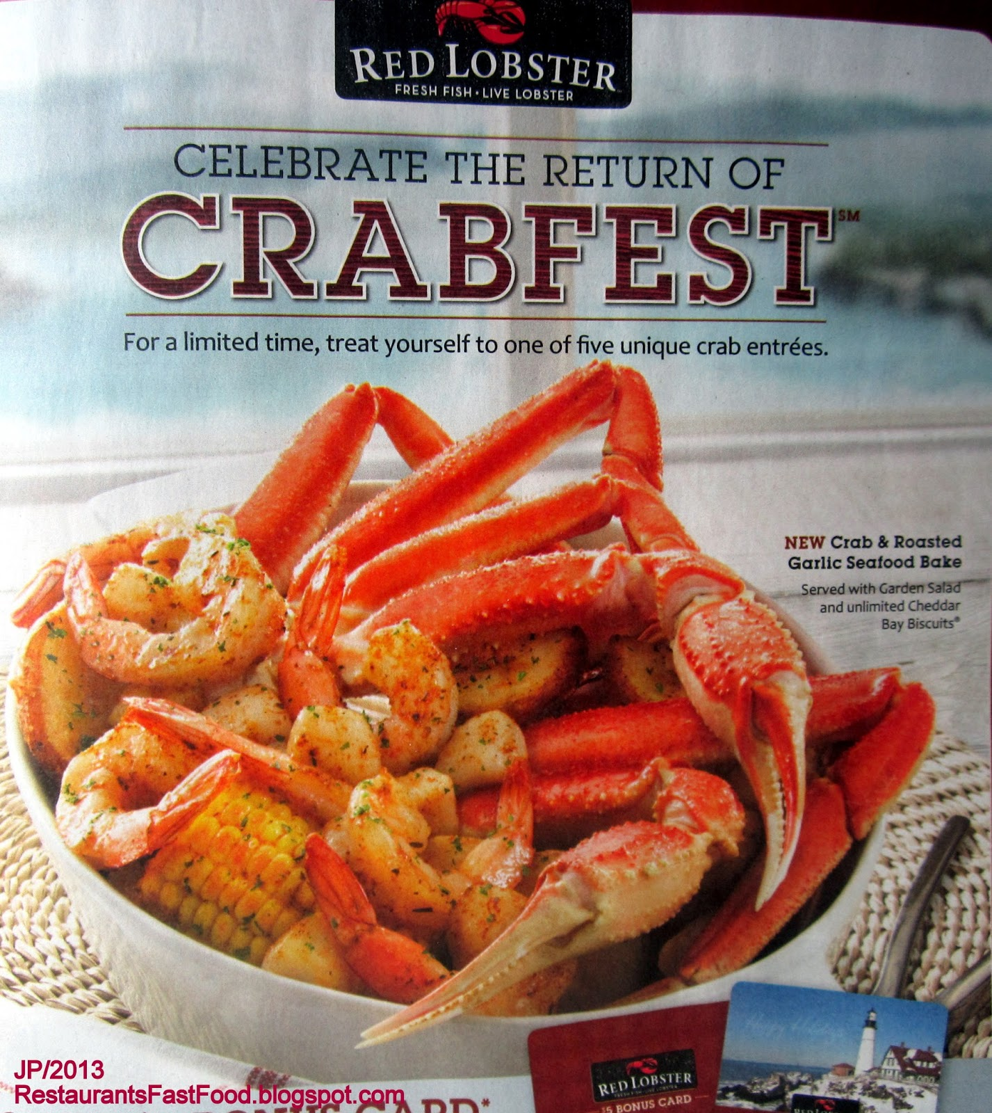 Red Lobster Seafood Restaurant Endless Shrimp Scampi Plate