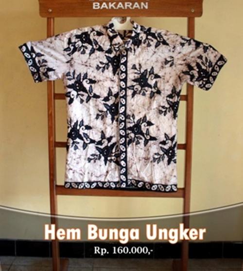 Desain Baju Hem Batik: Batik Bakaran Wanita: Desain Baju Batik Bakaran