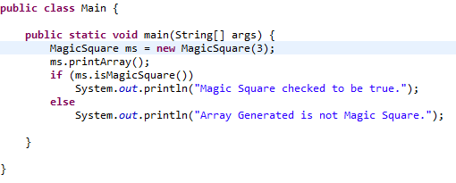 Programming Exercise: Magic Square | Life is Electric