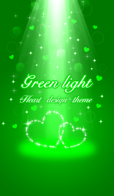 Heart design theme -Green light-