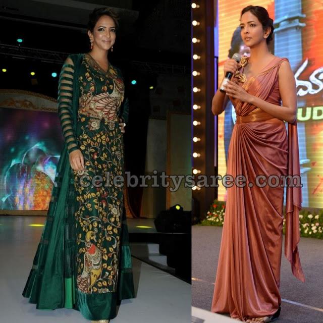 lakshmi-prasanna-manchu-stylish-saree-drape