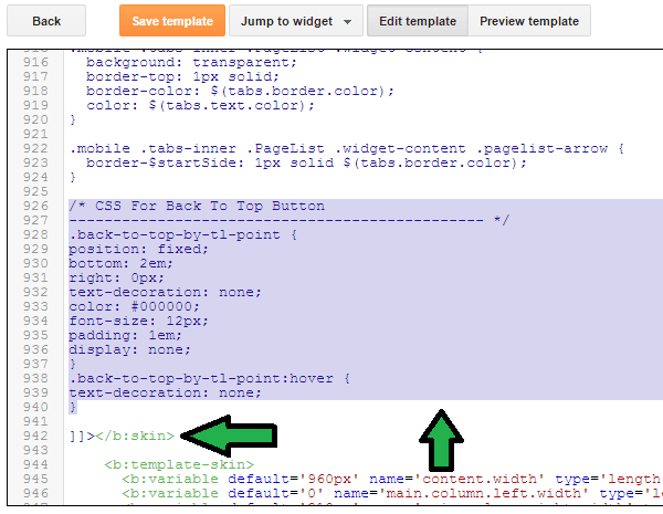Implement Back To Top Button In Blogger 2