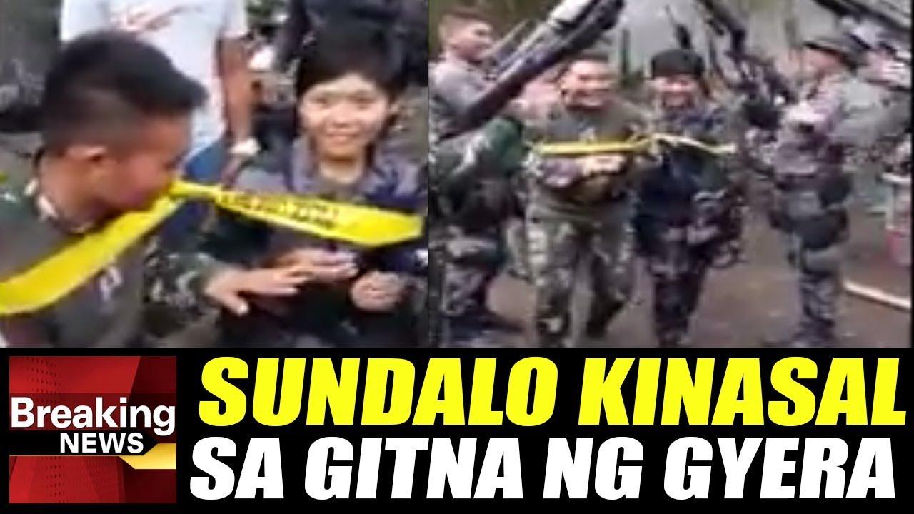 WATCH: 2 Sundalo Kinasal Sa Gitna Ng Gyera Sa Marawi Nag-viral sa Buong Mundo