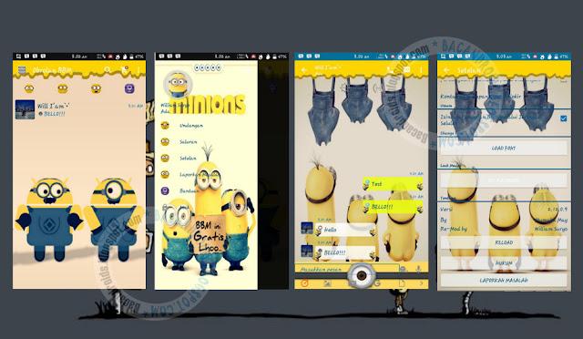 download BBM2 Mod Thema Minions Versi 2.12.0.9 Apk Terbaru(Clone)