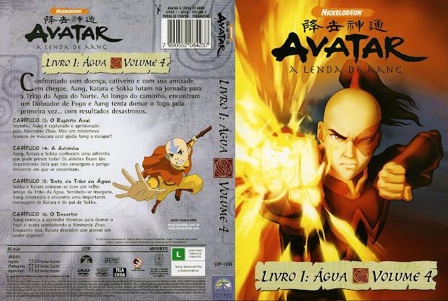 Capa DVD AVATAR A LENDA DE AANG LIVRO 1: ÁGUA VOLUME 3