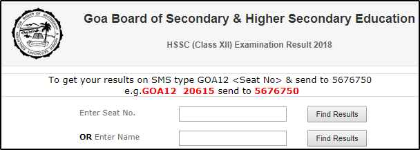 Goa SSC 10th Result
