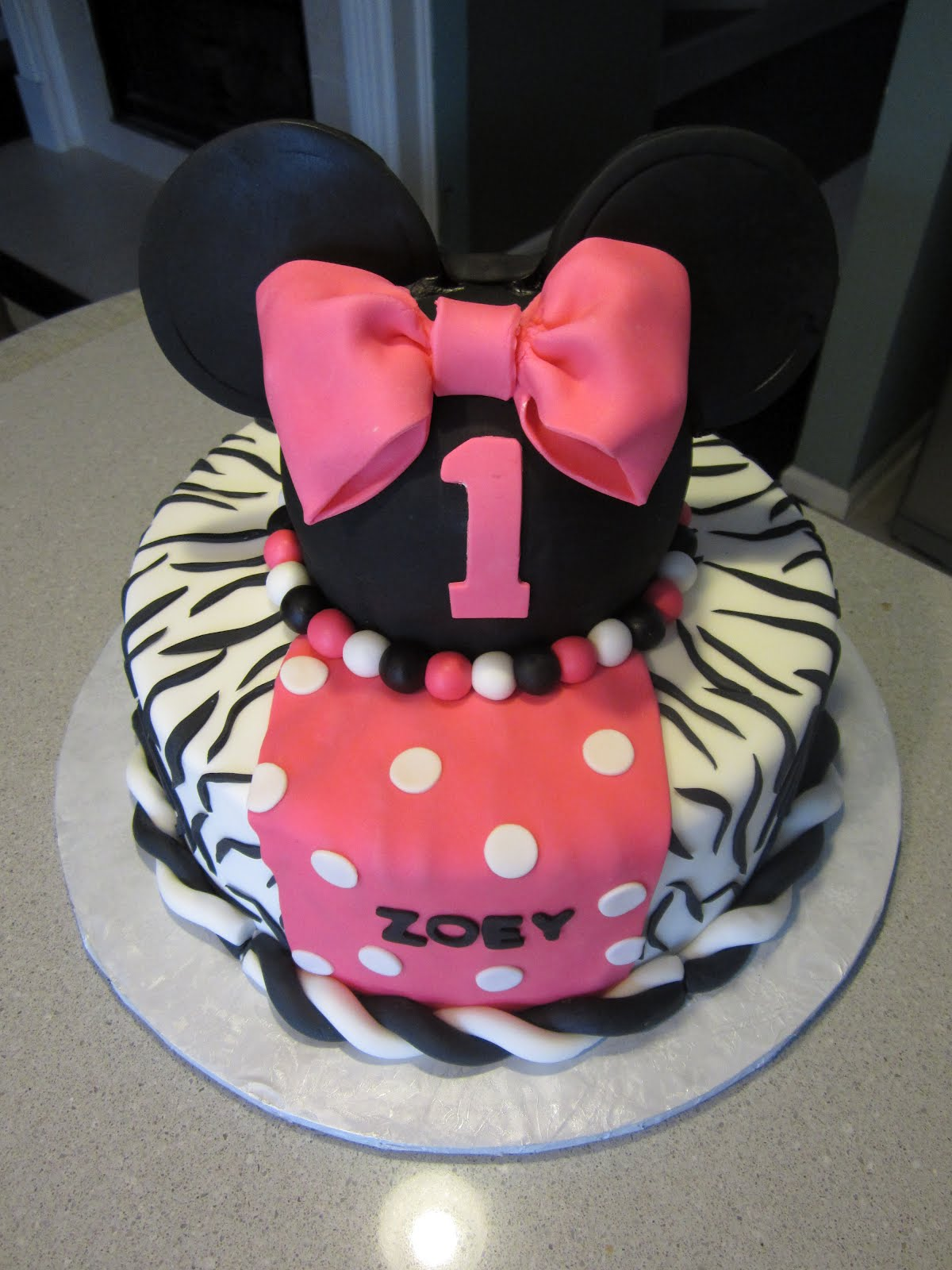 Cakes By Nancy Minnie Mouse in Zebra Print
