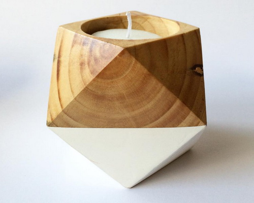 Tinuku.com Studio Balok Living presenting series wooden candle holder design for romantic moments