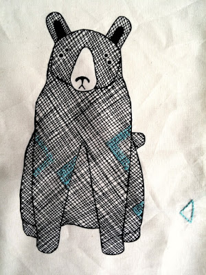 Puppilalla,Gingiber, Thicket Fabric, star quilt, baby blanket, bear