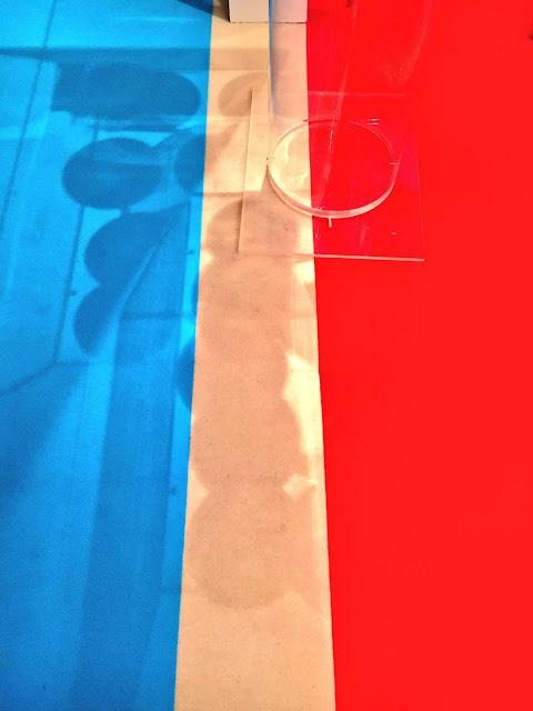 Blue, White & Red Floor Art