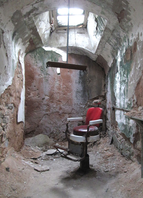 Eastern State Penitentiary: barbers chair