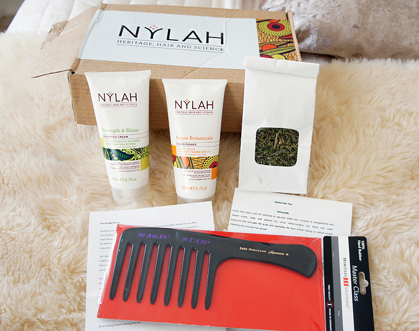 Nylah Hair Care Products Review- Super Botanical's Conditioner, Strength and Shine Shampoo Cream and Herbal Hair Tea Growth