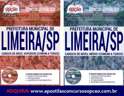 Apostila para o Concurso Prefeitura de Limeira 2017 Todos os Cargos