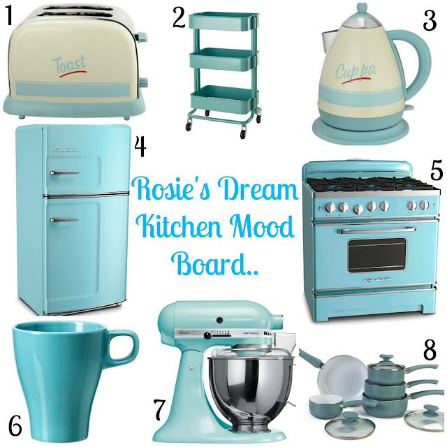 Rosies Dream Pastel Kitchen Mood Board
