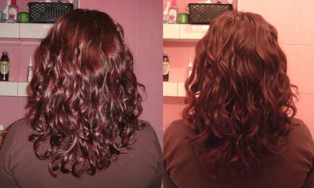 Włosy po wizycie u fryzjera i warstwowym cięciu ;)