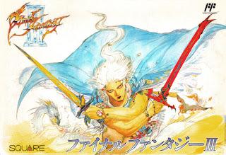 Arte gráfico de Final Fantasy III en FAMICOM, 1990