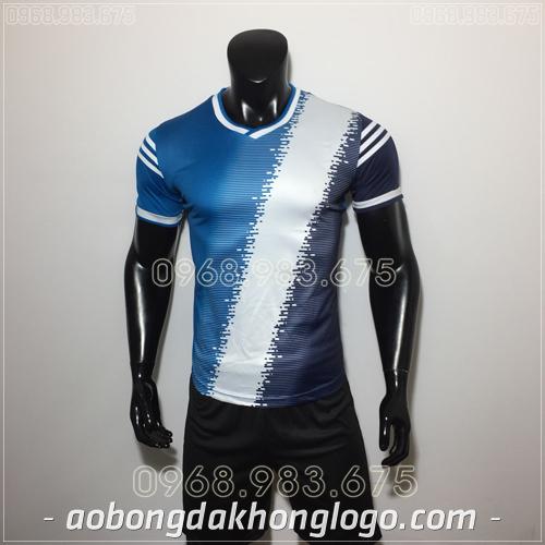 Áo bóng đá không logo TL Vidal  màu  xanh đen