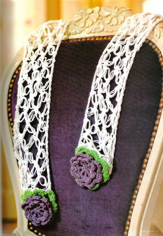 Bufanda Flores Caladas Extremo Violetas
