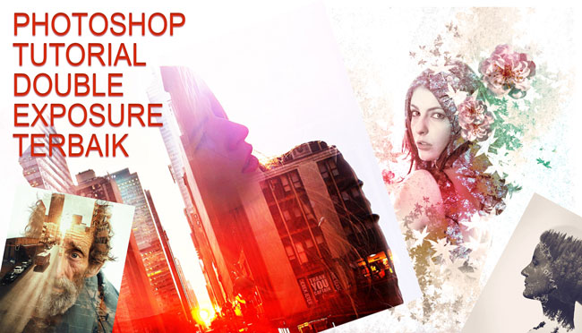 photoshop tutorial double exposure terbaik