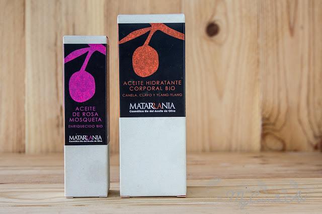 Matarrania: Aceite Hidratante Bio de Canalea, Clavo e Ylang-Ylang y Aceite de Rosa Mosqueta.