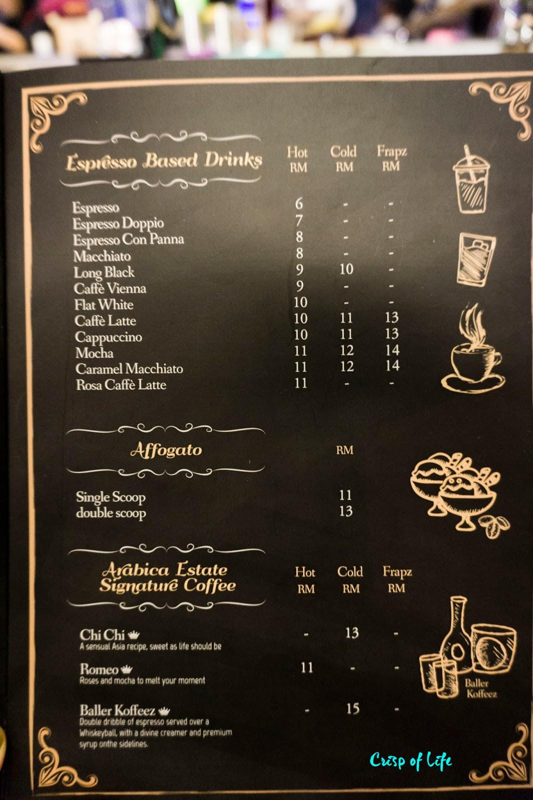 Arabica Estate Cafe Coffee Persiaran Karpal Singh Penang