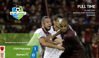 Kalahkan Borneo FC, PSM Makassar Kembali Pimpin Klasemen Liga 1