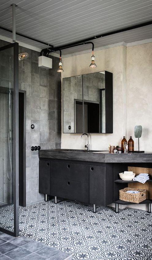 Industrial bathroom decoration