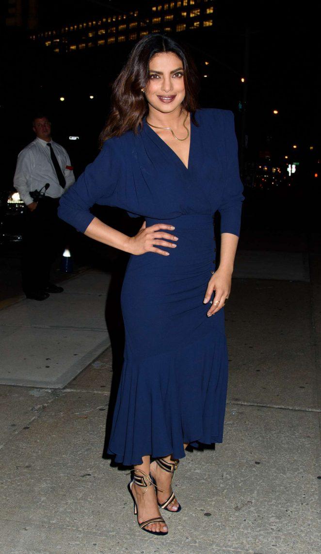 Priyanka Chopra In Blue Dress At Golden Heart Awards