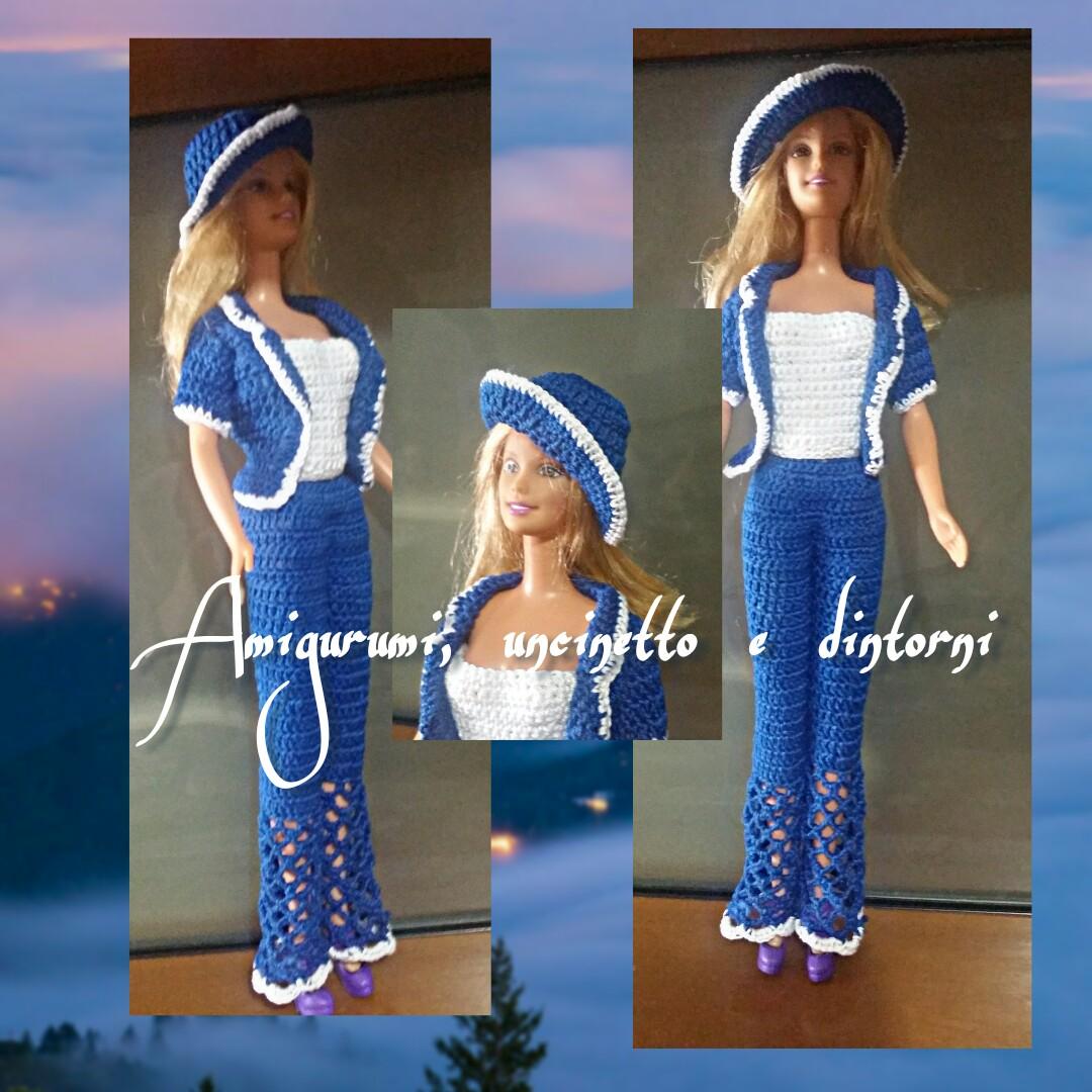 Vestiamo La Nostra Barbie Giacca E Pantaloni Ad Uncinetto Debora