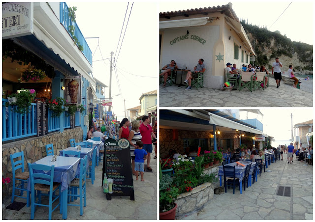 Traditional tavernas Agios Nikitas Village in Lefkada Island, Greece