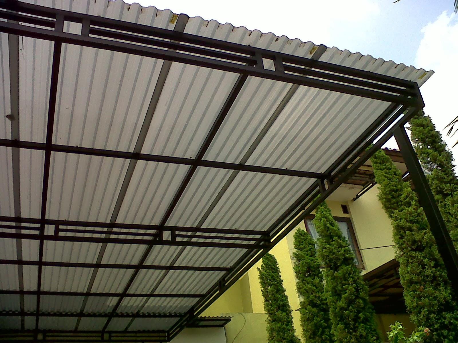 Contoh Atap Canopy Minimalis Dengan Solar Tuff