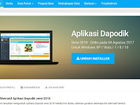 Aplikasi Dapodik 2018 Resmi Rilis, Ini Link Downloadnya