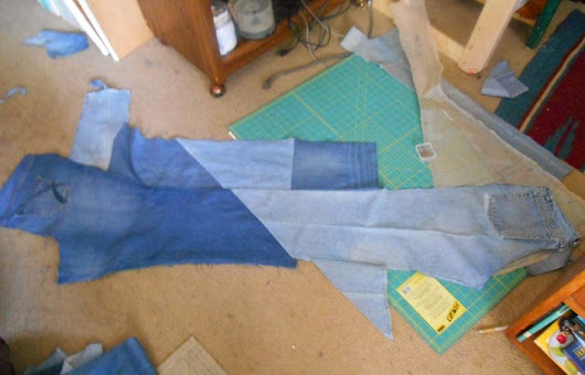 Lisianblue's Art World: CRAZY QUILT BLUE JEAN COAT
