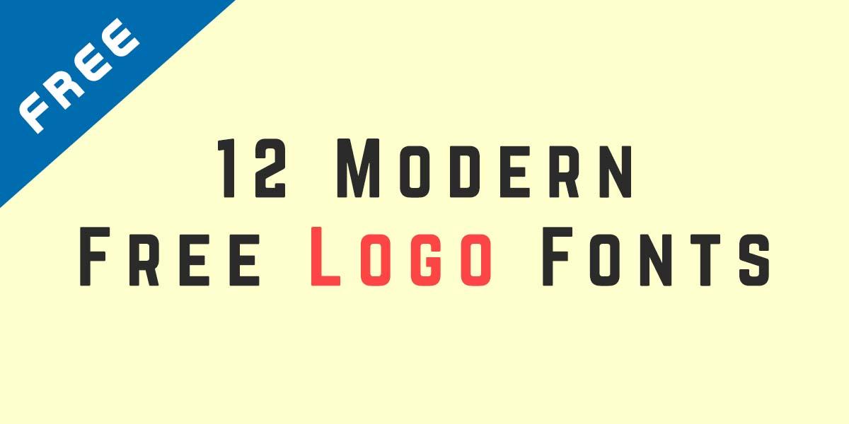 12 Modern Free Logo Font - Designers Lane