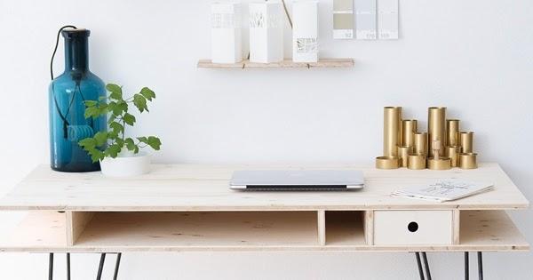 ein schreibtisch zum selberbauen sinnenrausch der kreative diy blog f r wohnsinnige und. Black Bedroom Furniture Sets. Home Design Ideas