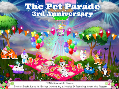The Pet Parade 3rd Anniversary Blog Hop Badge