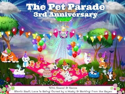 The Pet Parade 3rd Anniversary Blog Hop Badge