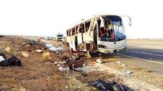 وفاة 35 معتمر وإصابة 4 في حادث مؤلم لحافلة في المدينة المنورة