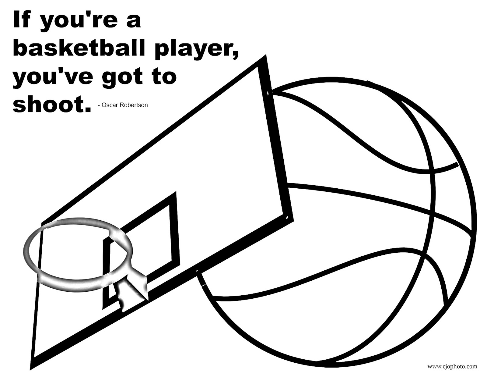 CJO Photo: Basketball Quote Coloring Page