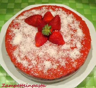 Cheesecake al cocco e fragole