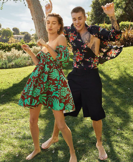 Justin Bieber and Hailey Vogue Magazine March Issue Cover Photos