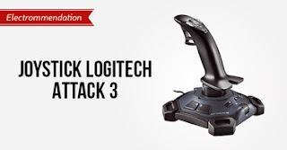 Joystick Logitech Attack 3 untuk Percontohan Simulasi Penerbangan