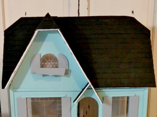 The Littlest Vintage Cottage - Dollhouse Exterior Makeover