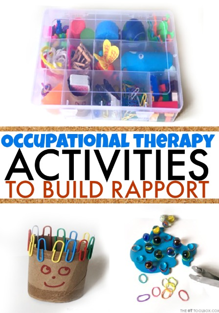 Kids will love these fine motor activities in occupational therapy this year! Use the back-to-school fine motor kit to build rapport at the start of a new school year!