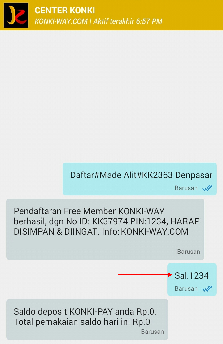 Konki Way Dan Cafe Pulsa Mojokerto Kp Axis 0 Rupiah Setelah Terdaftar Coba Cek Saldo Kirim Pesan Salpin Contoh Sal